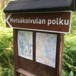 Metsäkoivula trail sign