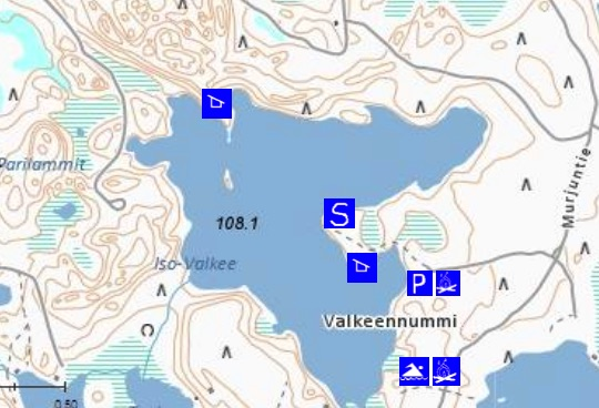 Iso-Valkee map