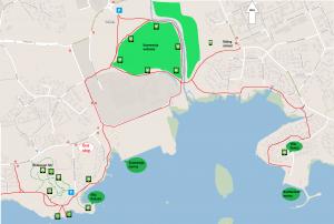 Suomenoja Espoo Rantaraitti Villa Rulludd map kartta