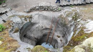 Giant's Bath Tub or the Jättiläisen kuhnepytty giant's cauldron in Askola, Finland.