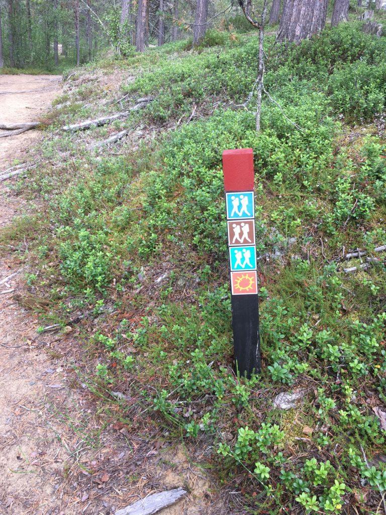 Trail markings in Hetta Enontekiö