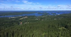 A View from Puijo Tower in Kuopio Finland
