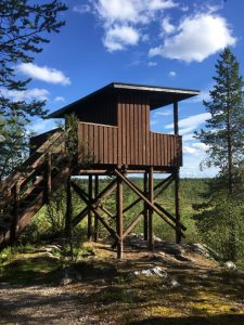 Yrjö Kokko birdwatching tower in Enontekiö Lapland