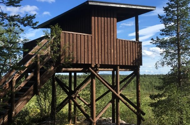 Yrjö Kokko birdwatching tower in Enontekiö Lapland