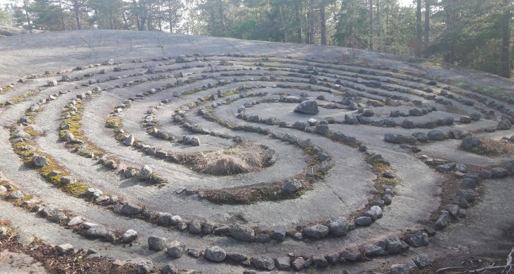 Rock maze in Nauvo, Finland