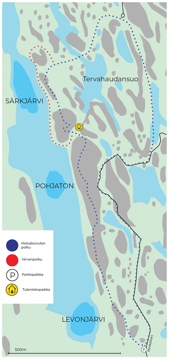 Metsäkoivula map