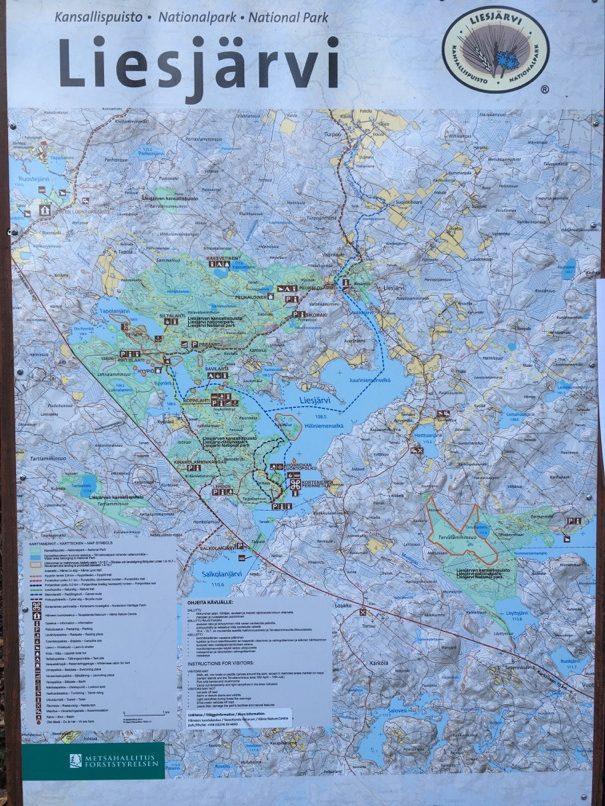 Liesjärvi trails map