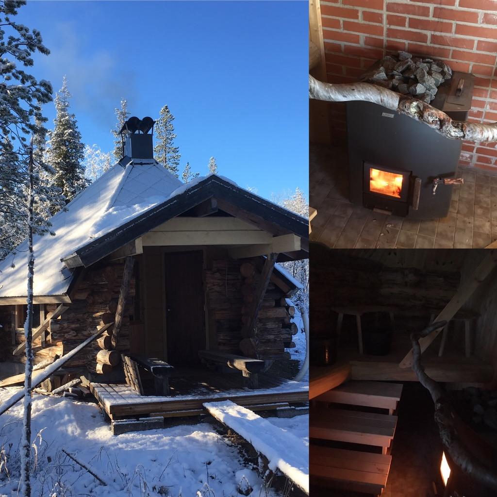 Sauna in the winter