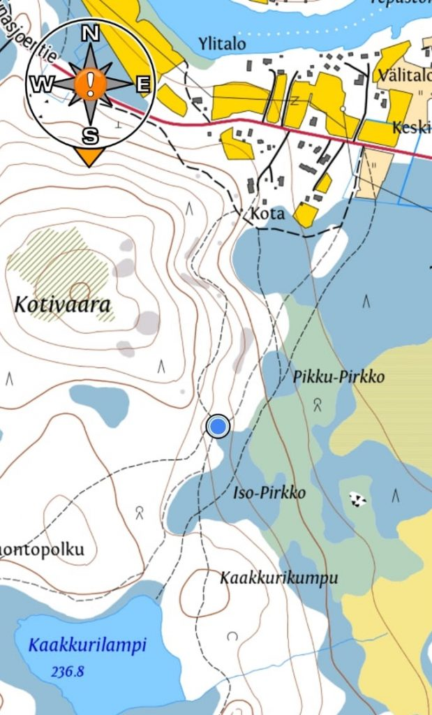 Map of the Tepasto nature trail