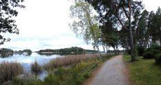 Rantaraitti seaside promenade and waterfront walkway in Espoo, in Finland's capital area