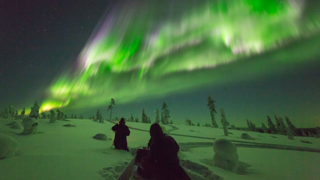 Northern Lights aurora borealis Finland Suomi