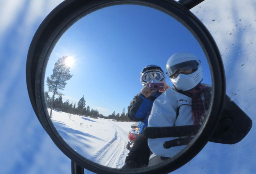 Snowmobiling in Finnish Lapland