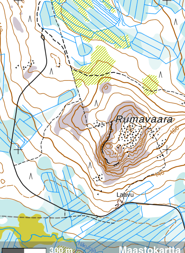 Rumavaara lean to shelter map
