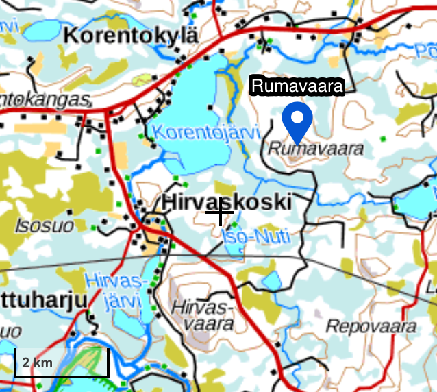Rumavaara road map