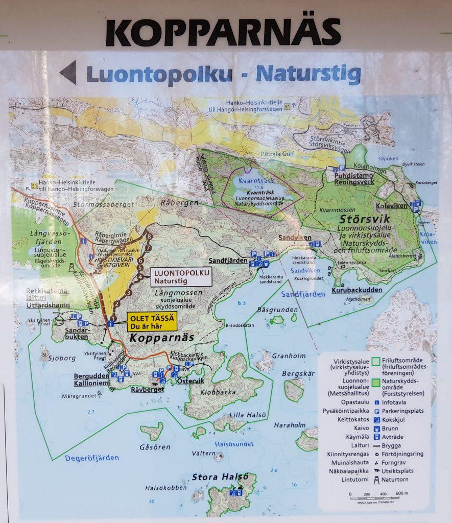 Kopparnäs info map