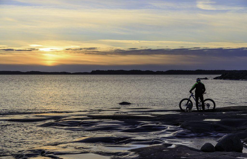 Cyclist in Kopparnäs