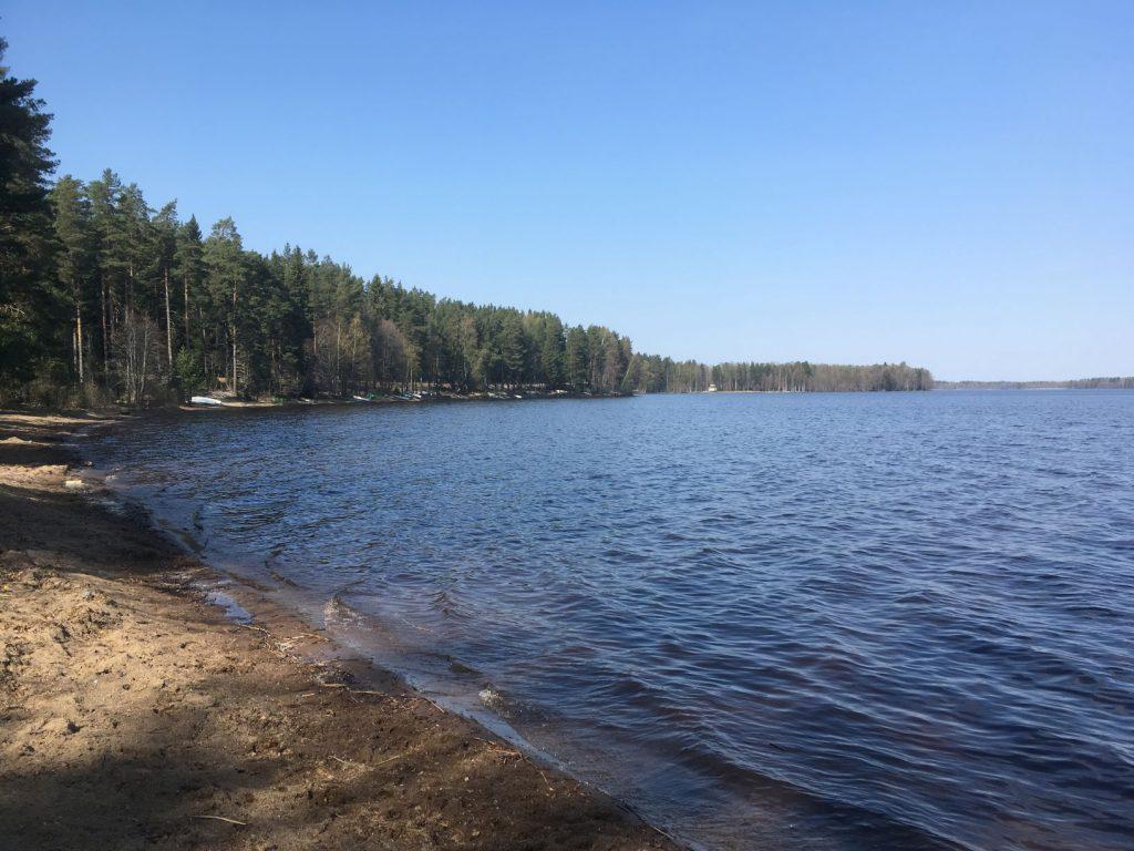 Saari Folk Park beach at Lake Kuivajärvi