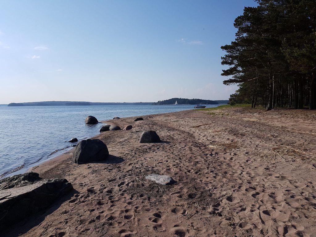 Sand beach on Stora Fagerö