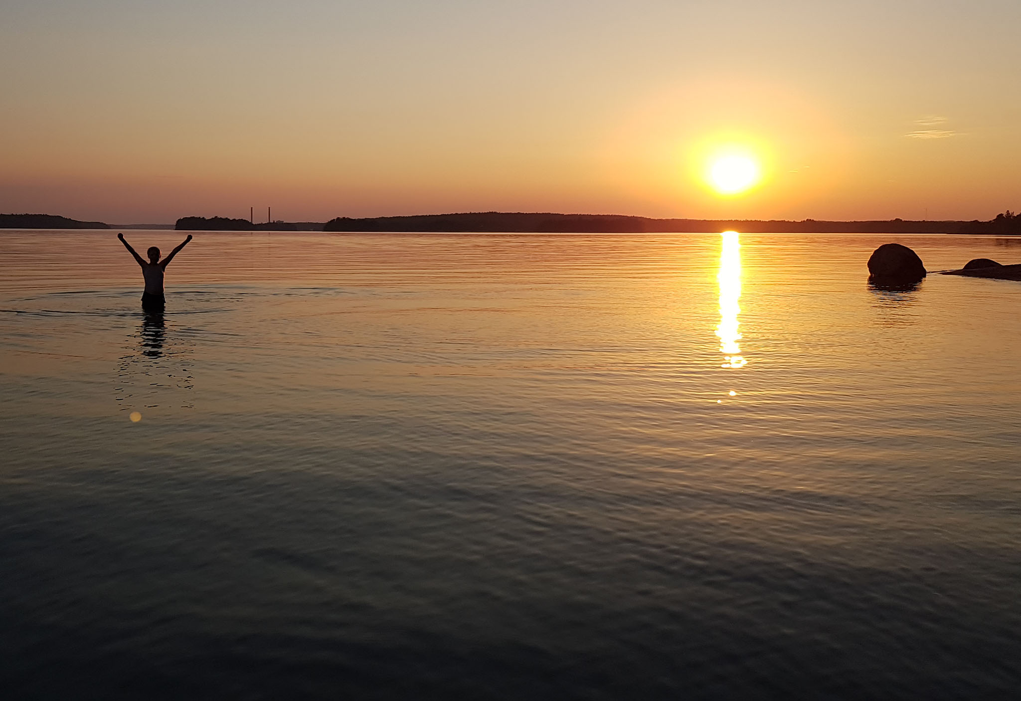 Sunset on Stora Fagerö