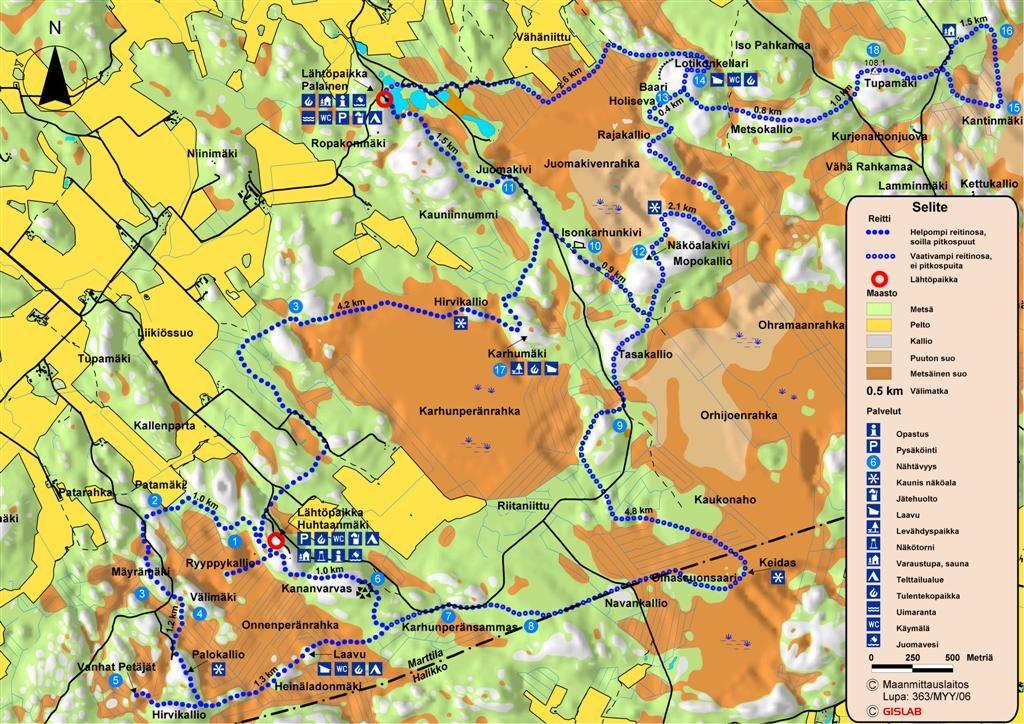 Marttilan eräreitistö map