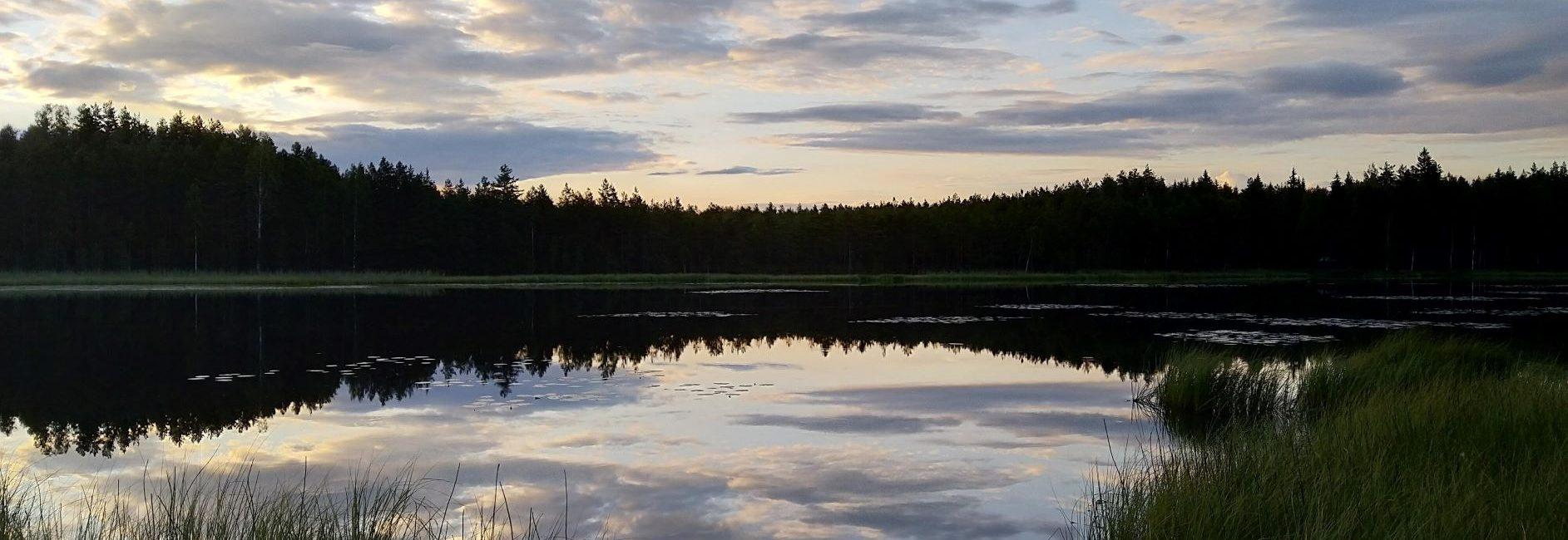 Liesjärvi Kaksvetinen evening sky