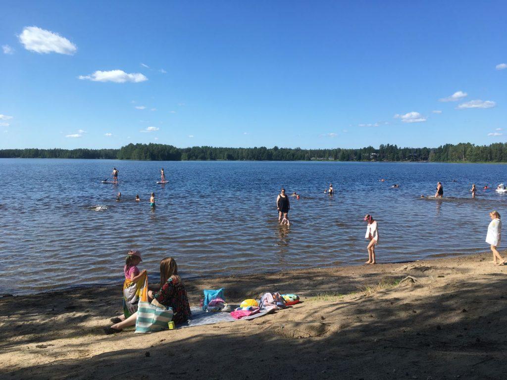 Ruostejärvi beach