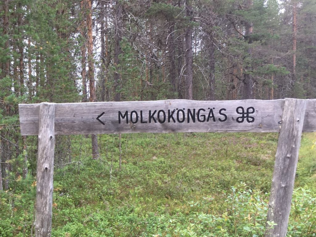 Molkoköngäs sign