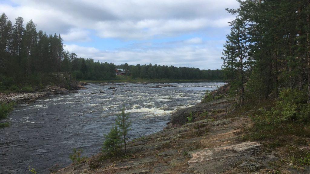 Molkoköngäs in Ounasjoki river