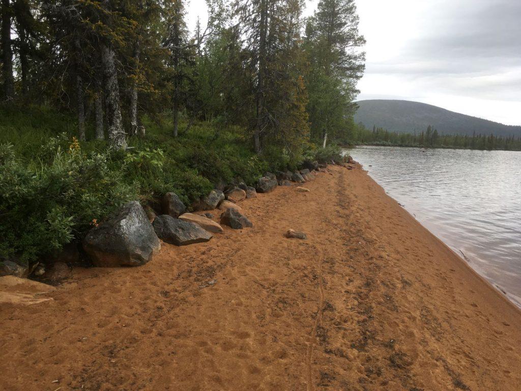 Punainenhiekka Pallasjärvi beach
