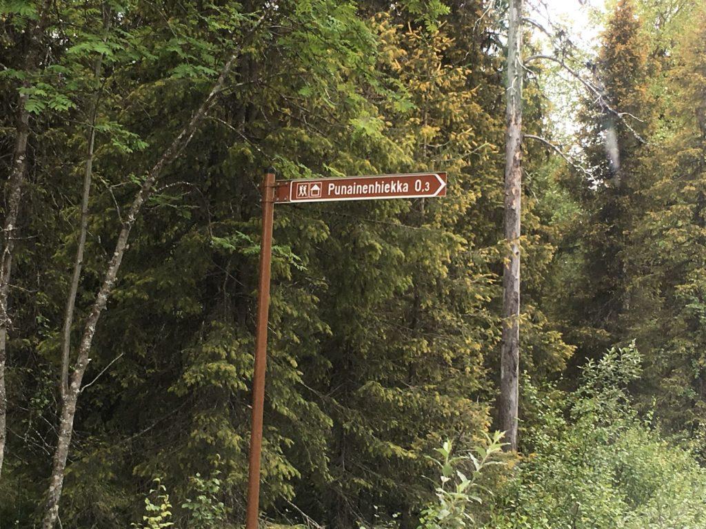 Punainenhiekka Pallasjärvi sign