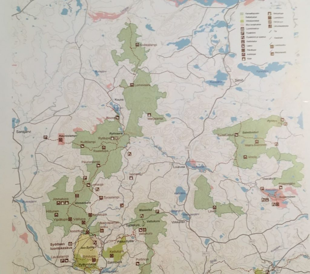 Syöte National Park map