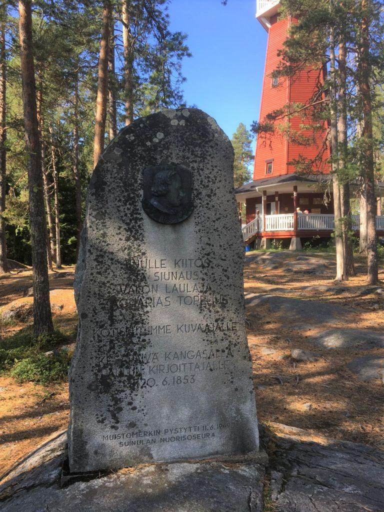 Topelius memorial stone at Haralanharju