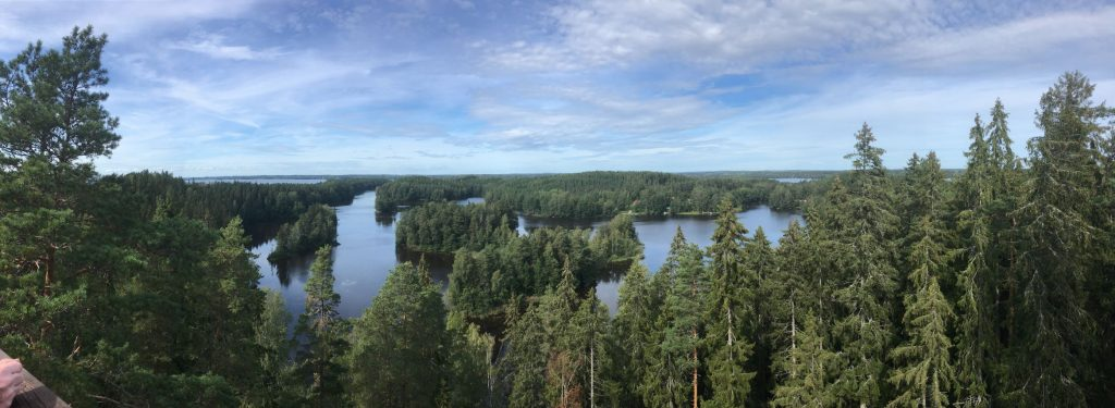 Landscape from Kaukolanharju observation tower in Saari Folk Park in Tammela