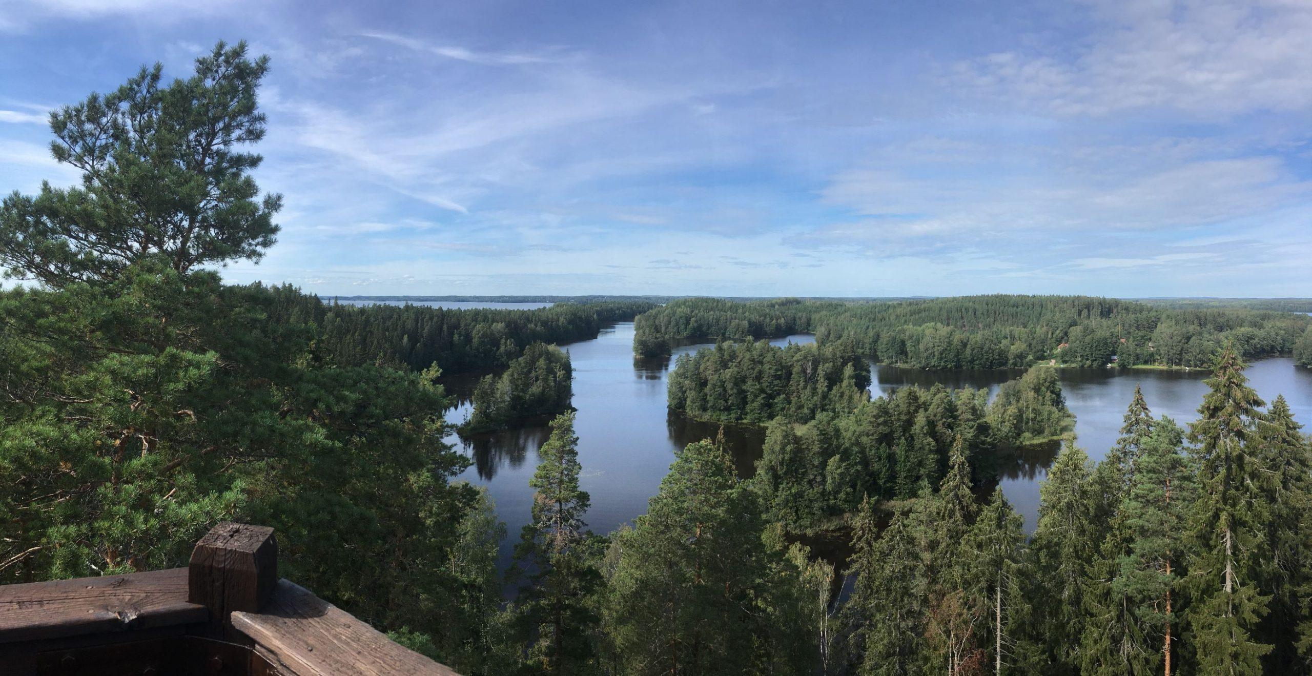 View from Kaukolanharju observation tower in Saari Folk Park