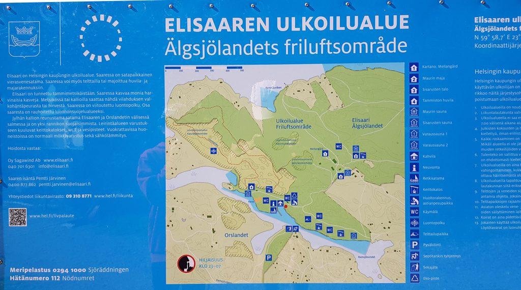 Elisaari map