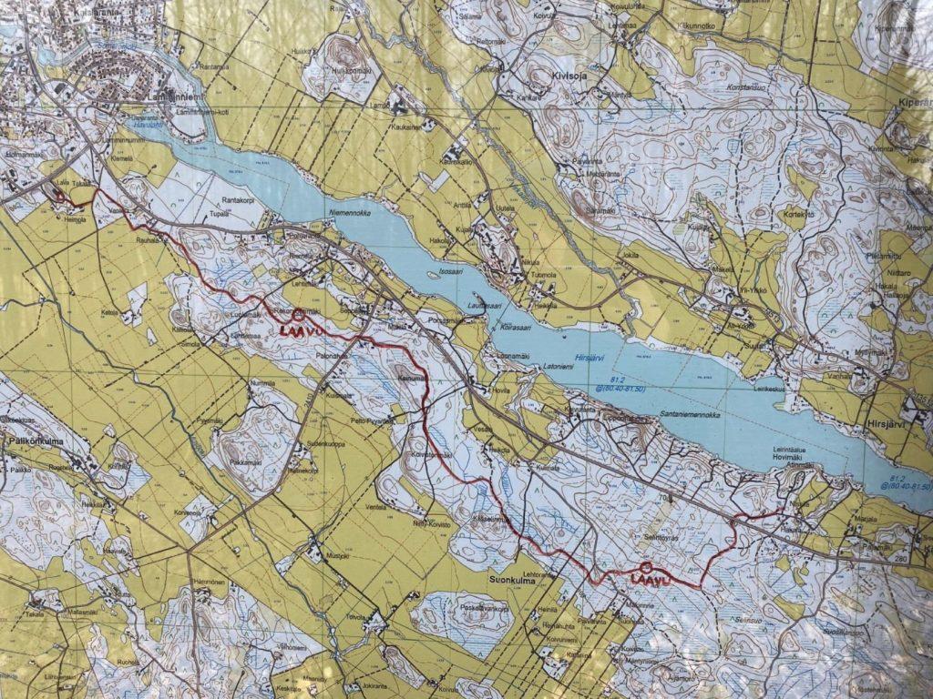 Hovimäki-Esakallio map kartta