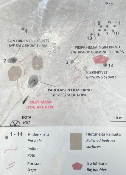 Map of Sukulanrakka giants kettles