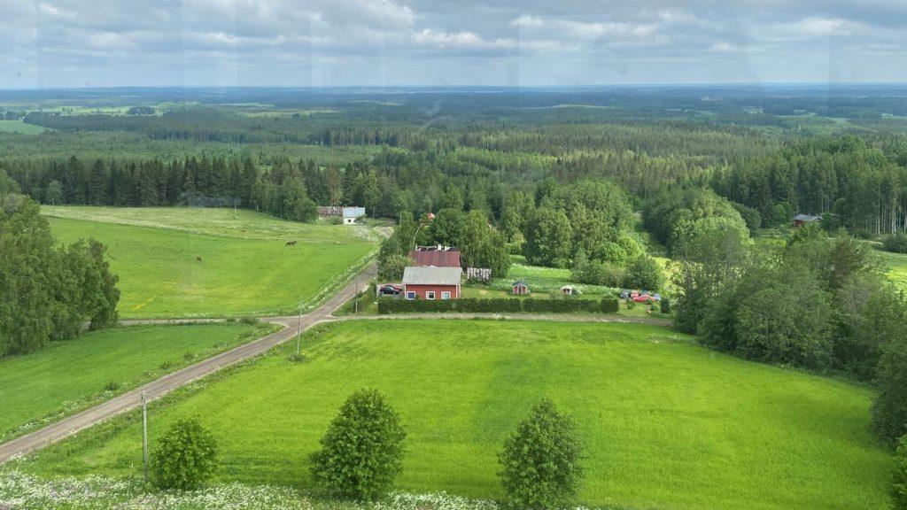 View from Suokonmäki tower Alajärvi