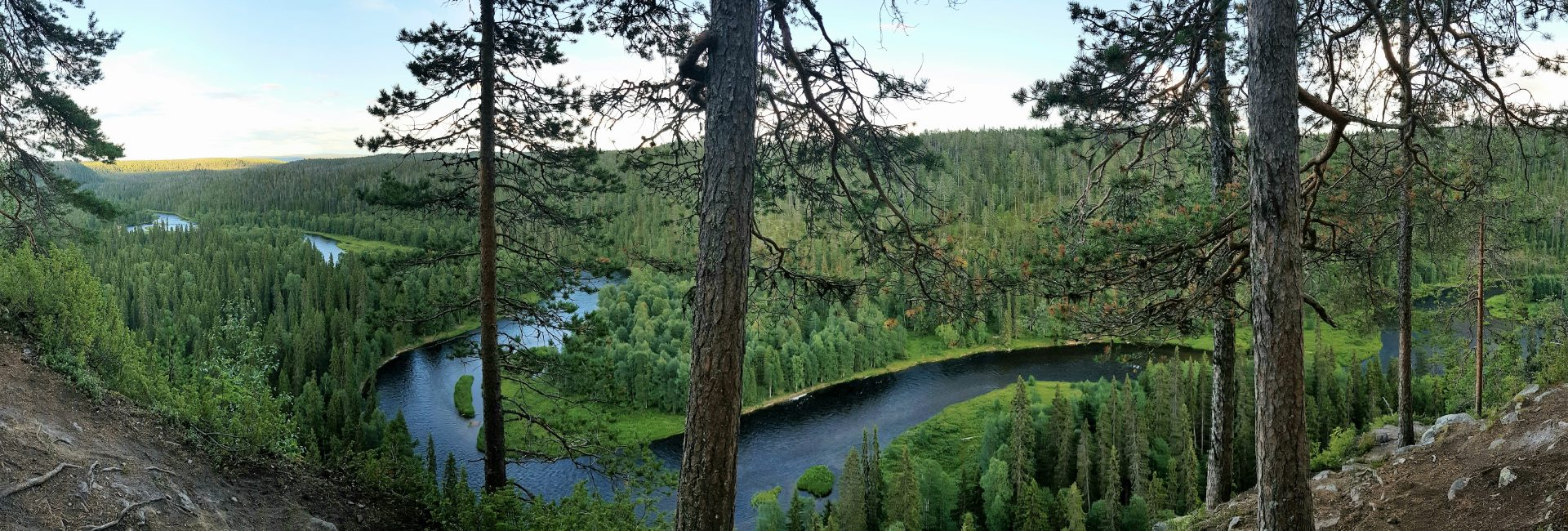Incredible views over Oulanka National park and Pähkänänkallio