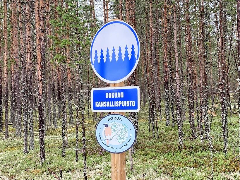 Rokuan kansallispuisto sign