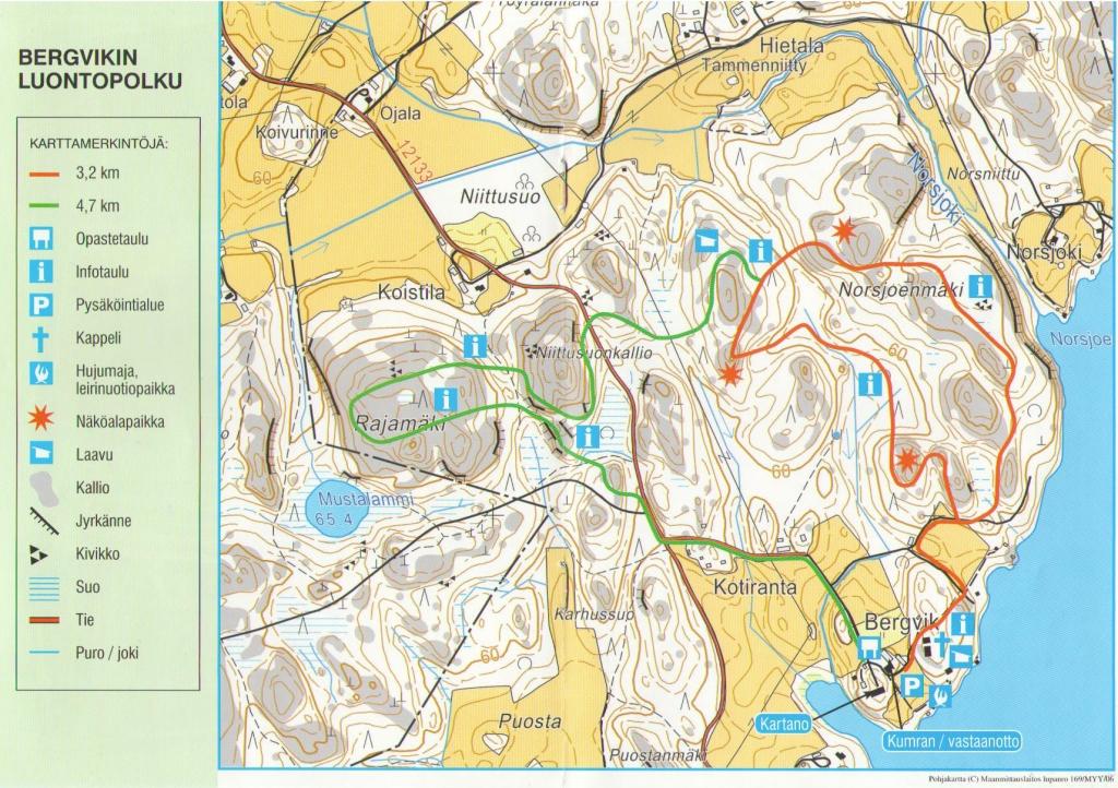 Bergvik map