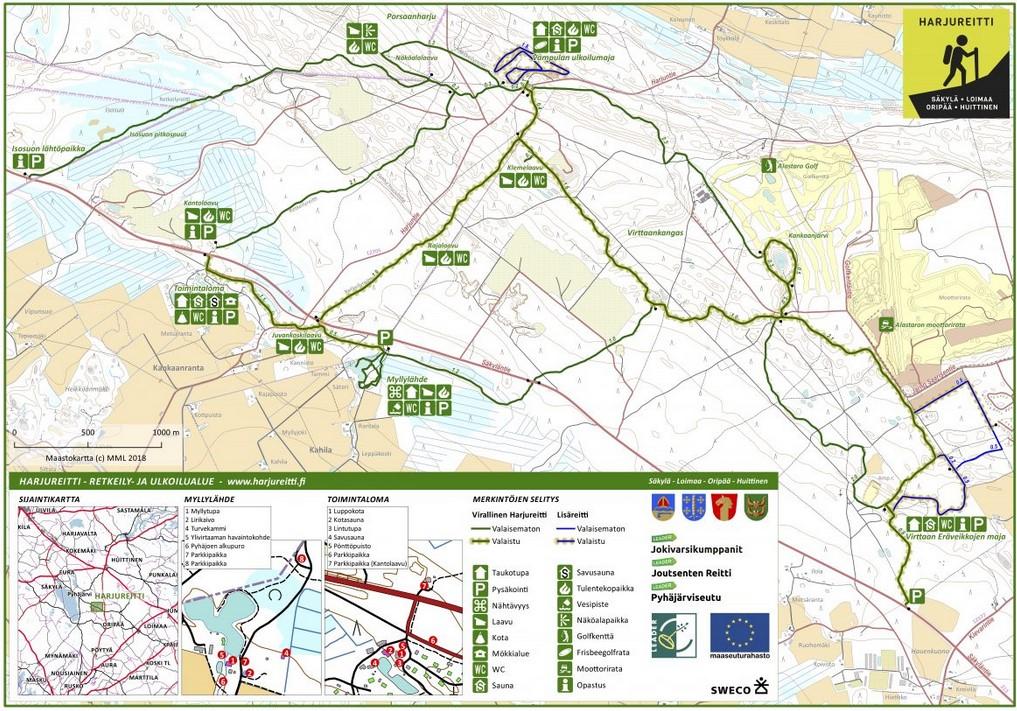 Harjureitti trail map