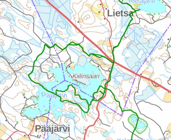Pääjärvi map small