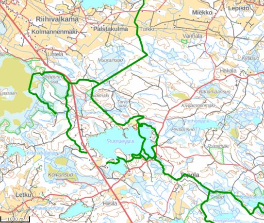 Ruostejärvi map