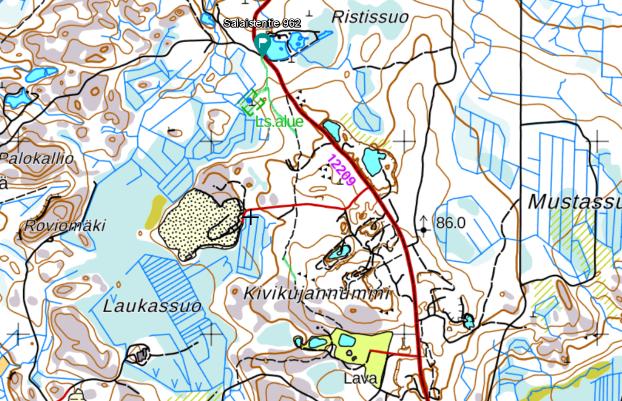 Salainen Uhrilähde map