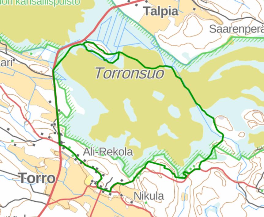 Torronsuo map