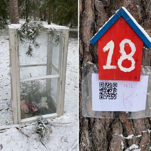 Christmas trail of Liesjärvi