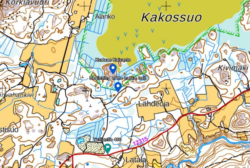 Map to Kustaan kaivanto