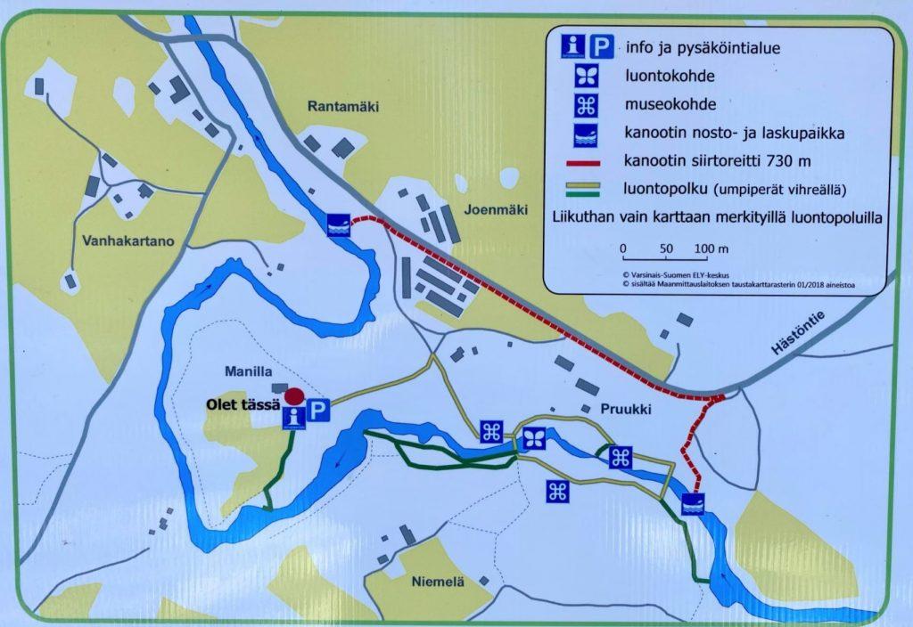 Map of Latokartanonkoski