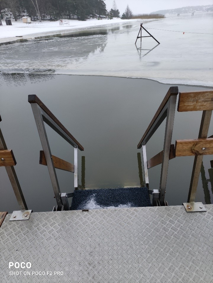 Ice swimming hole